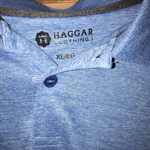 Haggar Shirts - NWT $48 Hagar Clothing Blue Collared Polo Top XL